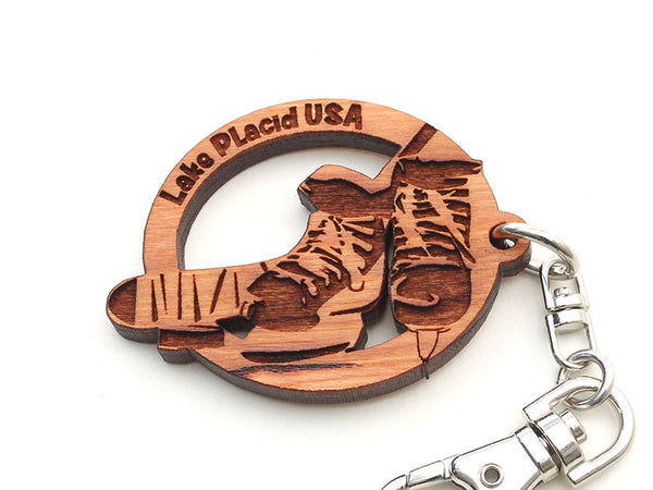 Lake Placid Hockey Skates Key Chain