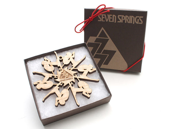 Seven Springs Skier Ornament - Nestled Pines