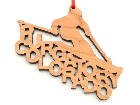 Purgatory Colorado Skier Text Ornament