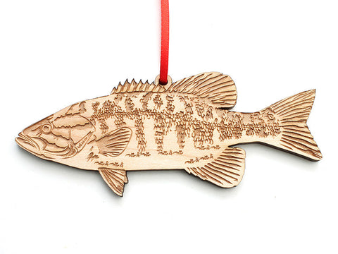 Smallmouth Bass Ornament - Nestled Pines
