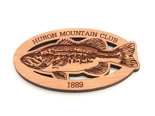 Huron Mountain Largemouth Bass Magnet
