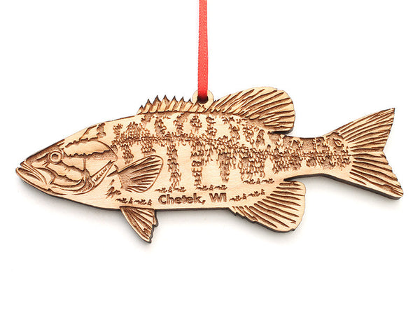 Lucky Day Smallmouth Bass Ornament ND - Nestled Pines