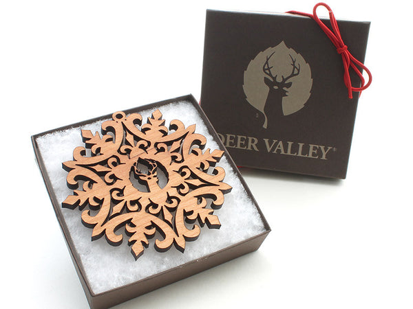 Deer Valley Logo Snowflake Ornament 2016 A - Nestled Pines