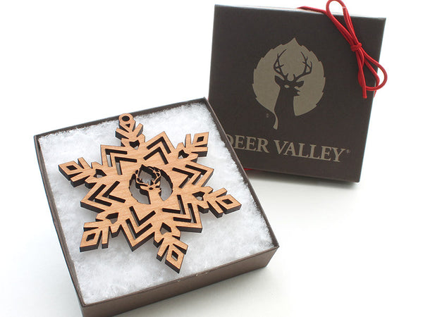 Deer Valley Logo Snowflake Ornament 2016 B - Nestled Pines