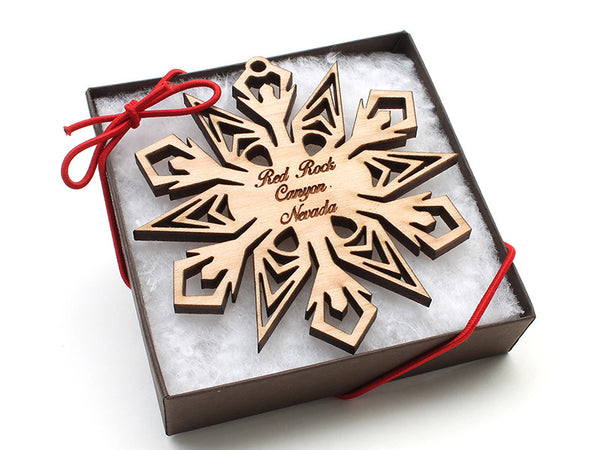 Red Rock Canyon Snowflake Ornament - Nestled Pines