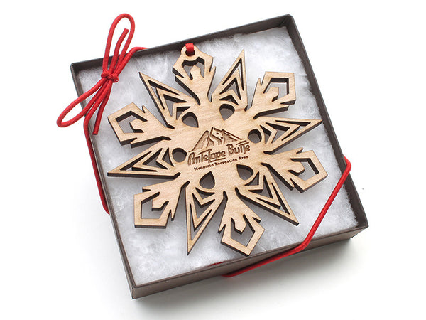 Antelope Butte Snowflake Ornament A - Nestled Pines