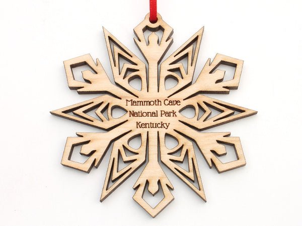 Mammoth Cave Maple Snowflake Ornament - Nestled Pines