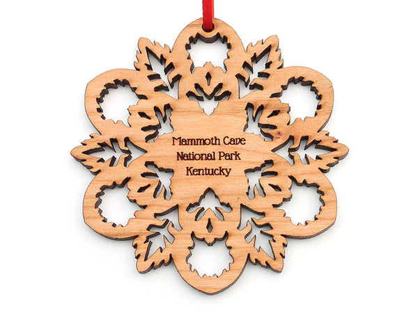 Mammoth Cave Cherry Snowflake Ornament 2015B - Nestled Pines