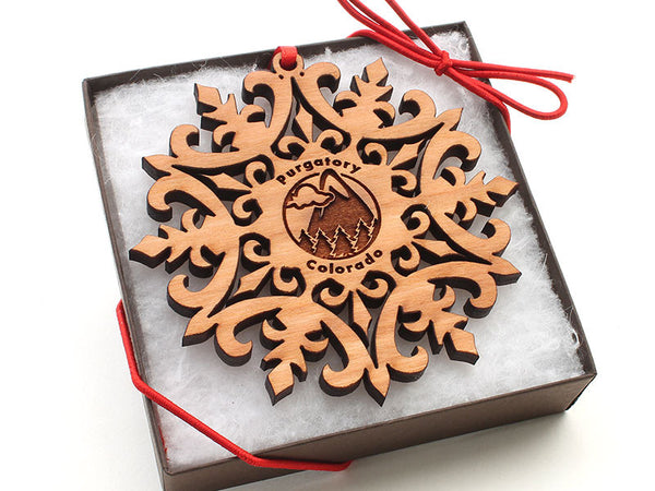 Purgatory Colorado Snowflake Ornament Gift Box
