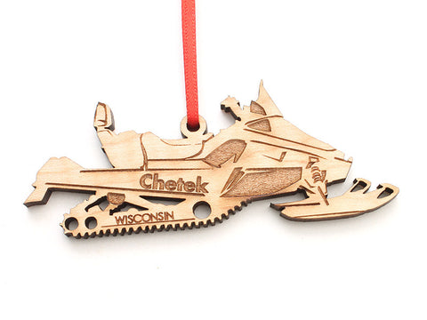 Lucky Day Custom Snowmobile Ornament ND - Nestled Pines