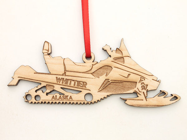 Whitter Alaska Snowmobile Ornament