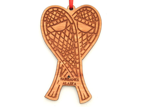 Fairbanks Alaska Snowshoes Ornament
