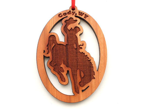 Steamboat Bucking Bronco Oval Ornament