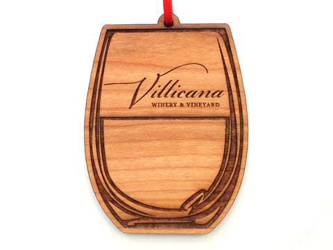 Villicana Stemless Wine Glass Ornament