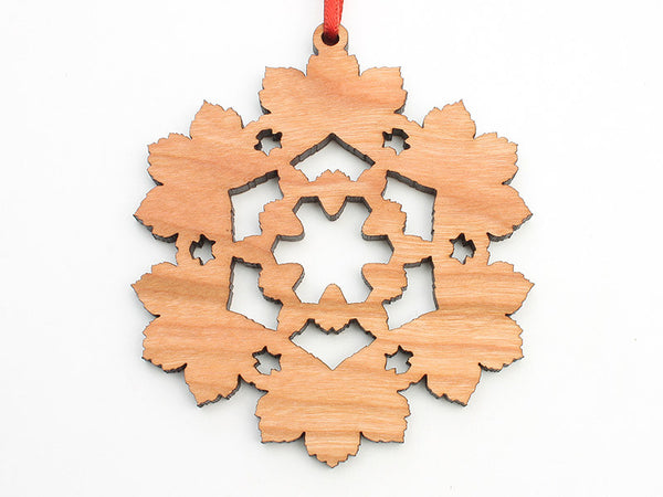 Blumen Gardens Sycamore Leaf Flake Ornament - Nestled Pines