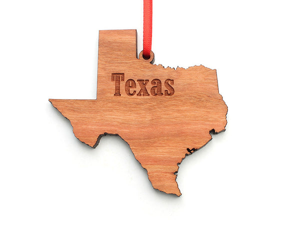 Texas State Ornament - Nestled Pines