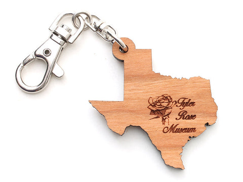 Tyler Rose Museum Texas State Key Chain - Nestled Pines