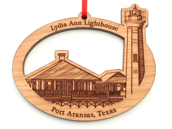 Lone Star Lydia Ann Lighthouse Oval Ornament
