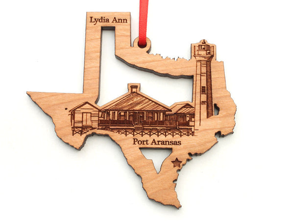 Lone Star Texas State Shape Lydia Ann Lighthouse Insert Ornament