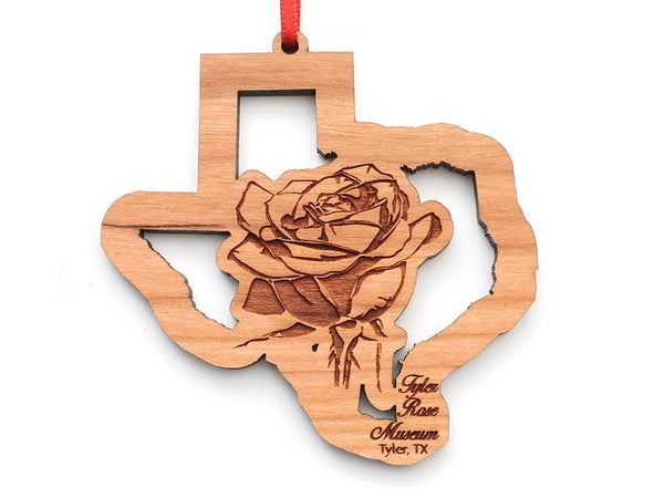 Tyler Rose Museum Texas Rose Insert Ornament Alt - Nestled Pines