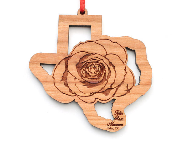 Tyler Rose Museum Texas Rose Insert Ornament - Nestled Pines