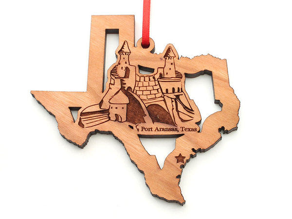 Lone Star Texas State Shape Sand Castle Insert Ornament