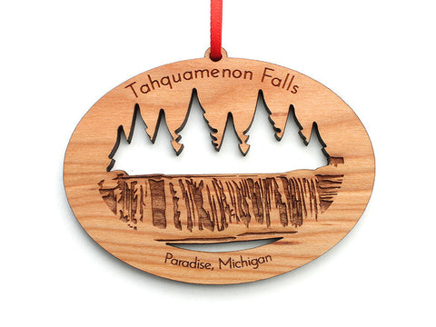 Tahquamenon Falls Custom Ornament - Nestled Pines