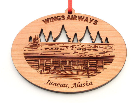 Wings Airways Taku Lodge Juneau Alaska Custom Ornament