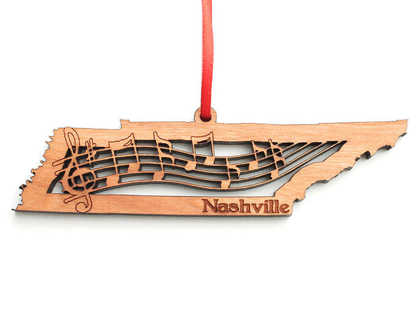 A Thousand Faces Tennessee Music Notes Ornament - Nestled Pines