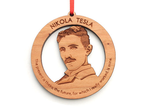 Nikola Tesla Ornament - Nestled Pines