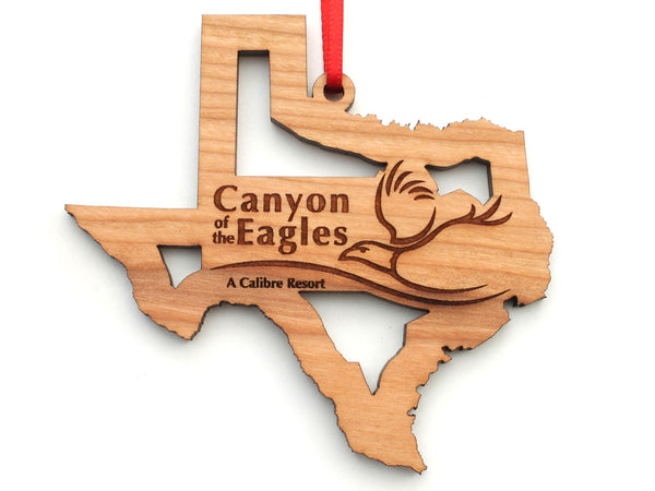 Canyon of the Eagles Texas State Logo Insert Ornament