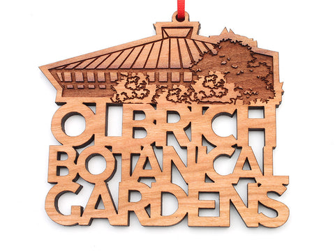 Olbrich Gardens Text Ornament - Nestled Pines
