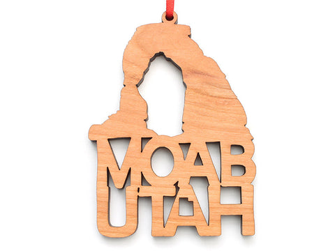 Moab Arch Text Ornament - Nestled Pines