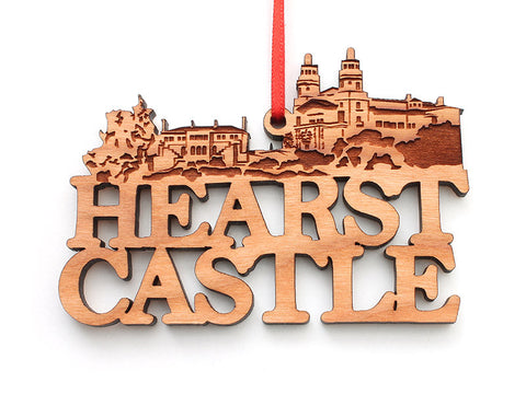 Hearst Castle Text Ornament - Nestled Pines