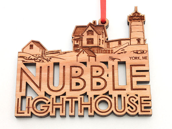 Nubble Lighthouse Custom Text Ornament