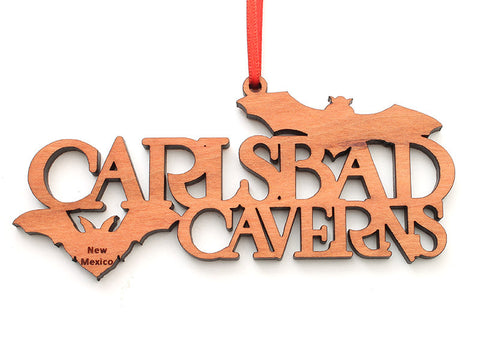 Carlsbad Caverns Bat Text Ornament - Nestled Pines