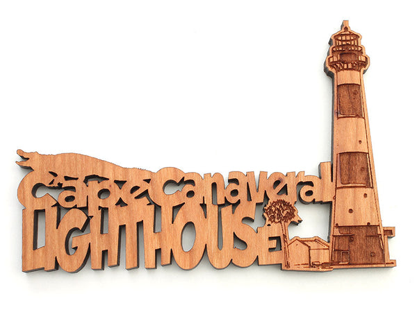 Cape Canaveral Lighthouse Text Ornament - Nestled Pines