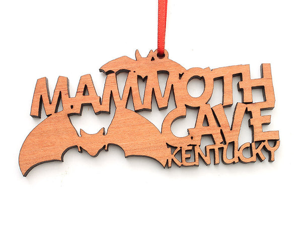 Mammoth Cave KY Text Ornament - Nestled Pines