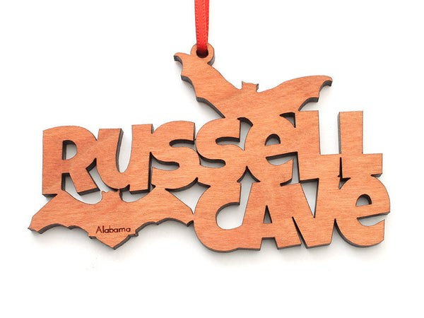 Russell Cave NM Bat Text Ornament - Nestled Pines