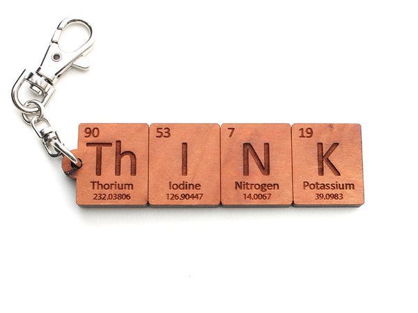 Think Periodic Table Element Key Chain - Nestled Pines