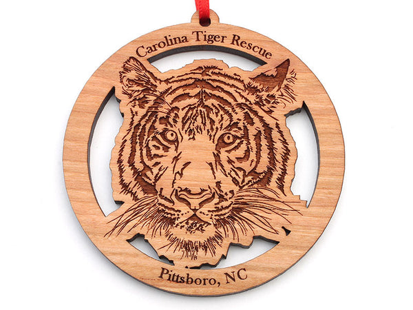 Carolina Tiger Rescue Tiger Face Circle Ornament