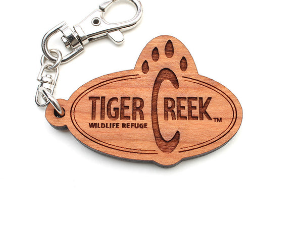 Tiger Creek Custom Logo Key Chain - Nestled Pines