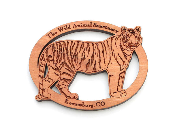 Wild Animal Sanctuary Tiger Oval Ornament