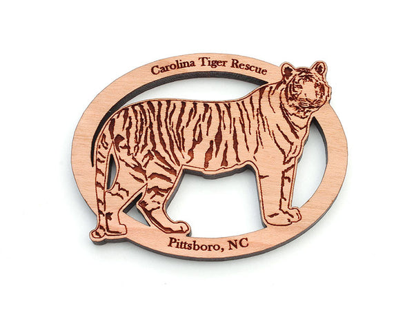 Carolina Tiger Rescue Tiger Oval Magnet