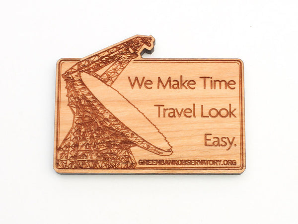 Green Bank Time Travel Magnet - Nestled Pines