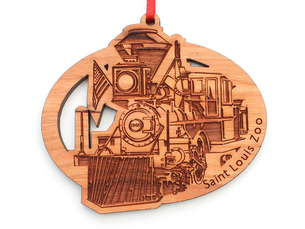 Saint Louis Zoo Train Oval Ornament