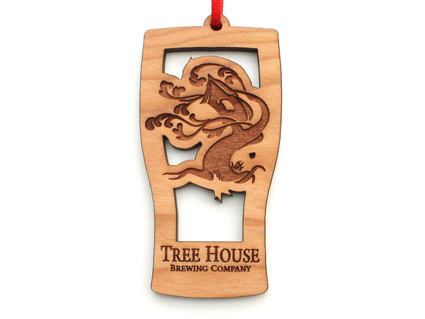 Tree House Brewing Company Beer Glass Logo Ornament