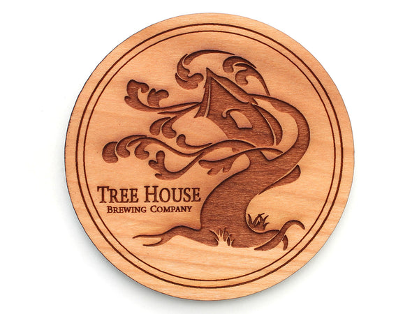 Tree House Brewing Company Logo Coaster (Set of 4)