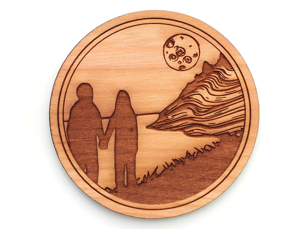Tree House Brewing Company Couple Moonset Artwork Coaster Set of 4