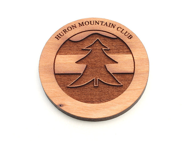 Huron Mountain Tree Logo Magnet